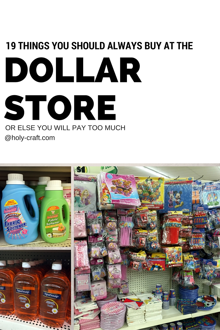 19 things you should always buy at the dollar store or for Dollar store items online