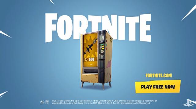 """الكشف عن العرض الرسمي """" لآلة البيع """" القادمة للعبة Fortnite و محتويات رائعة تقدم للاعبين ، لنتعرف عليها …"""