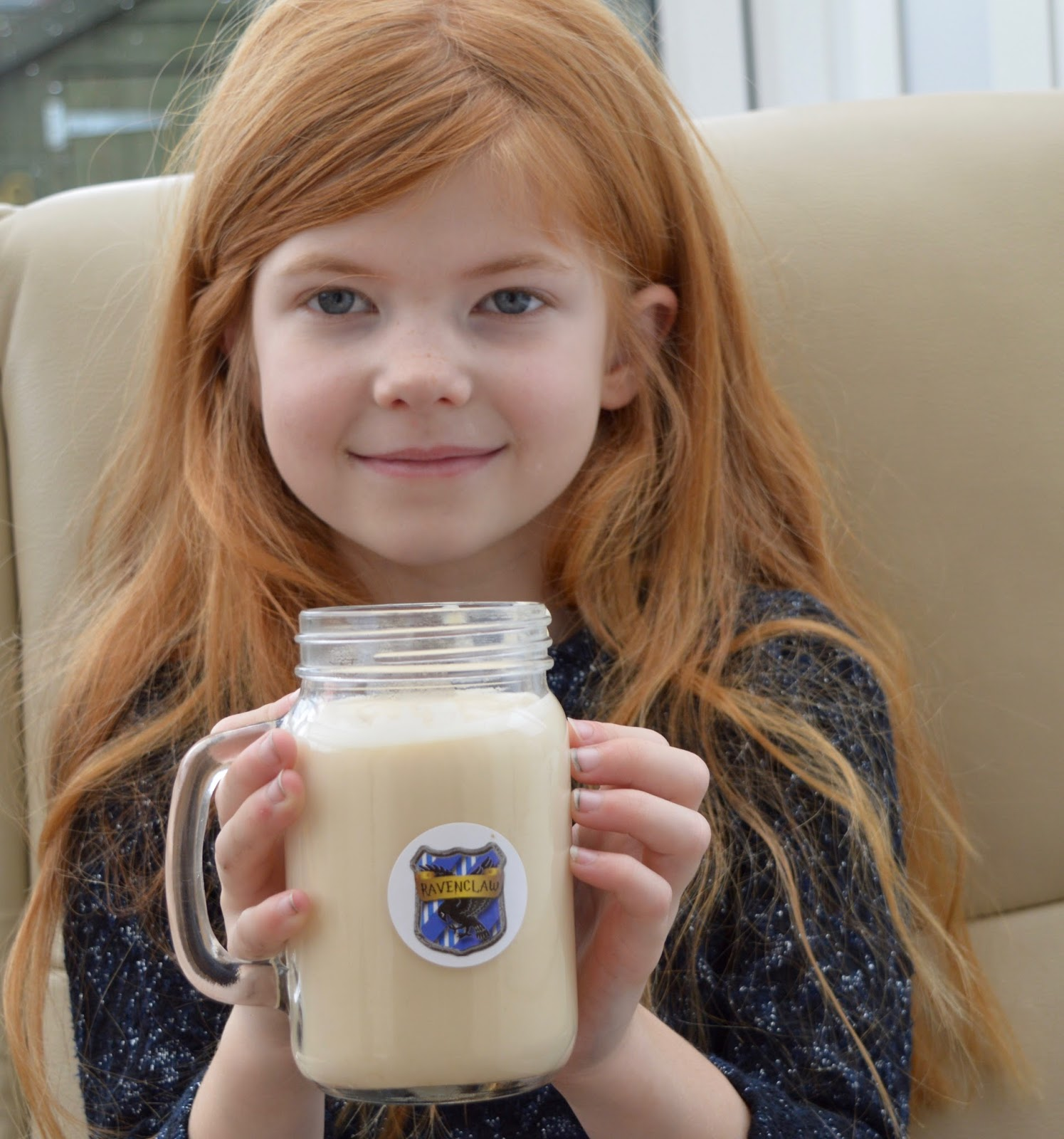 How to make Butterbeer in your Slow Cooker - a recipe with Yazoo flavoured milk - kids drinking butterbeer