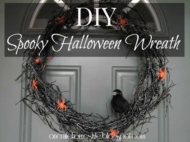 DIY Spooky Halloween Wreath | One Mile Home Style