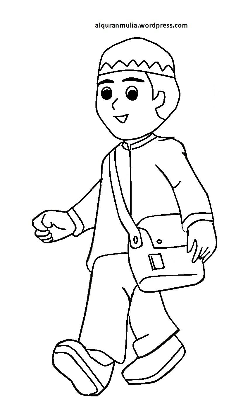 Kumpulan Gambar Kartun Anak Sholehah Kolek Gambar