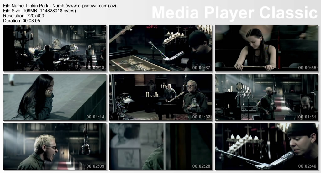 Clipstake: Linkin Park - Numb 480p music video
