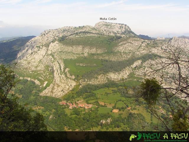 Vista de la Mota Cetín desde el Pondio