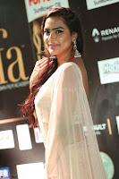 Prajna Actress in backless Cream Choli and transparent saree at IIFA Utsavam Awards 2017 0065.JPG