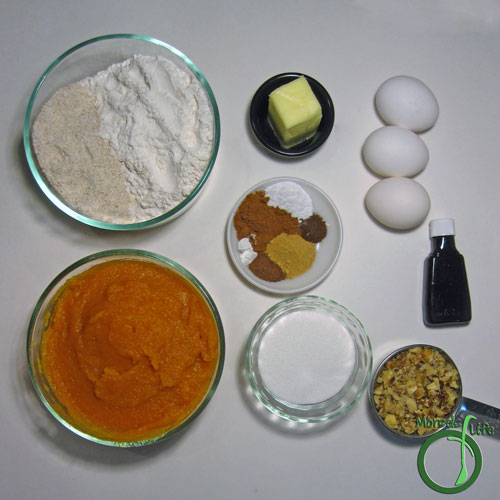 Morsels of Life - Pumpkin Spice Muffins Step 1 - Gather all materials.
