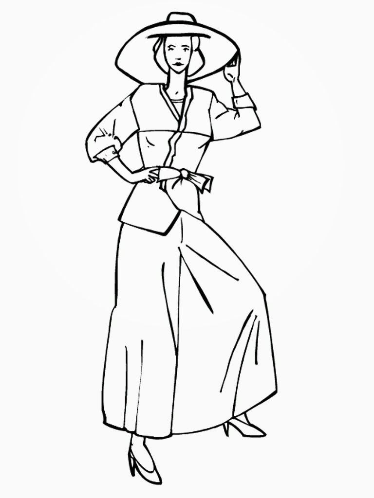 printable top model coloring pages