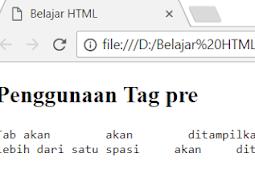 Penggunaan dan Penulisan Tag pre dan Tag code Dalam HTML