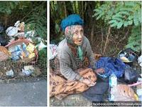 Durhaka! Nenek Renta Ini Dibuang Anaknya di Dekat Tempat Sampah