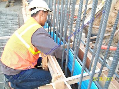 Pasang Waterstop PVC