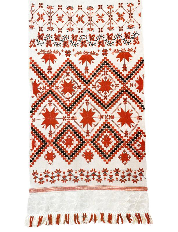 Hand-embroidered ritual towel rushnik from Belarus