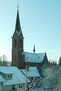 Schöllbronner Kirche im Schnee