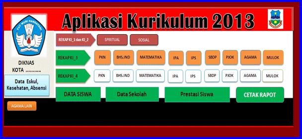 Download Aplikasi Raport SD Terbaru Kurikulum 2013 Revisi 2016/2017