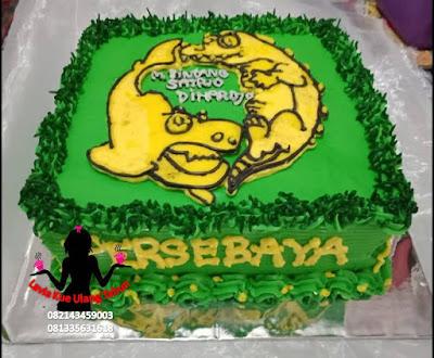 Kue Tart Pesanan Bonek Mania Penggemar Persebaya