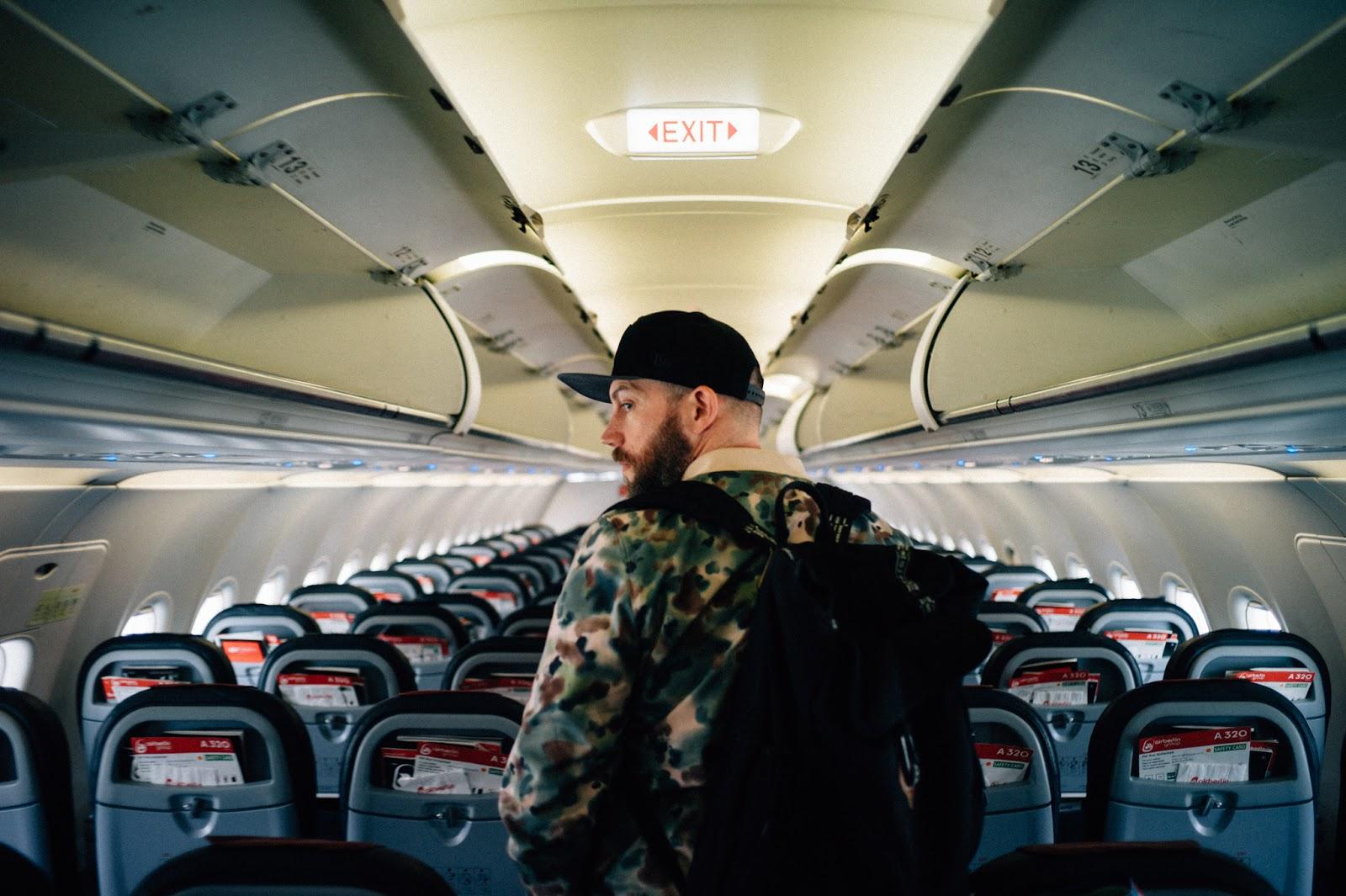Jens Christian Mahnke im Airbus der Air Berlin