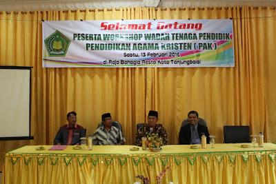 Kemenag Kota Tanjungbalai Gelar Kegiatan Workshop PAK
