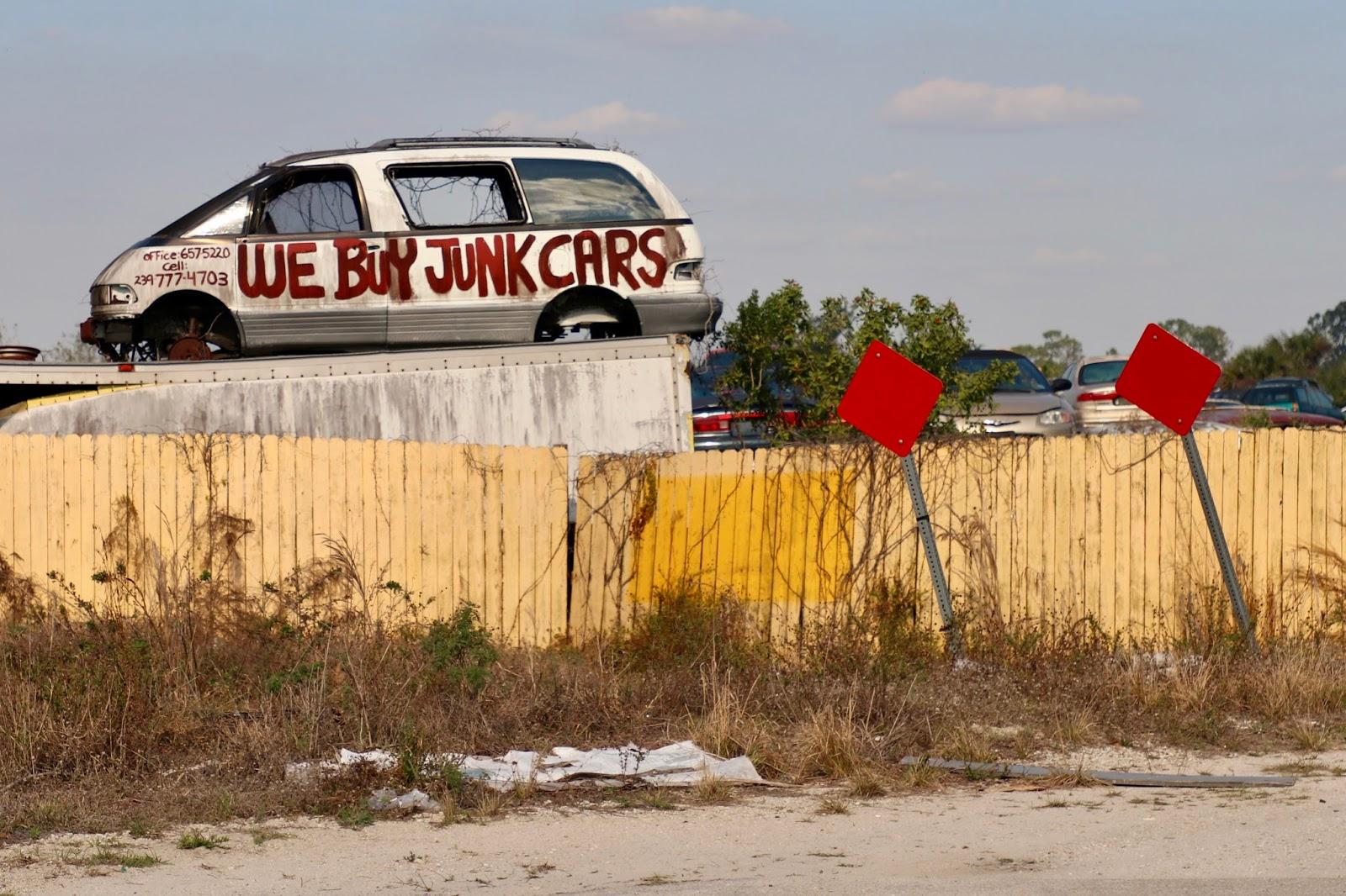 Naples and Hartford in Season: We Buy Junk Cars