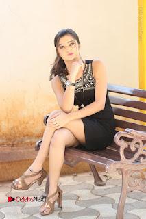 Actress Poojitha Pallavi Naidu Stills in Black Short Dress at Inkenti Nuvve Cheppu Movie Platinum Disc Function  0220.JPG