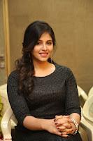 Anjali in Black Short Dress at Chitrangada Movie Success Meet ~  015.JPG