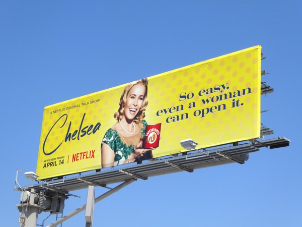 So easy even woman can open it Chelsea billboard