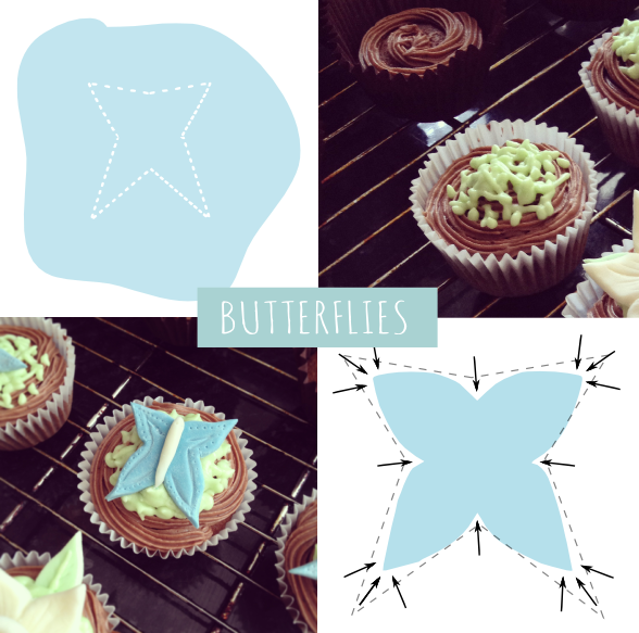 Butterfly easter cupcake how to DIY