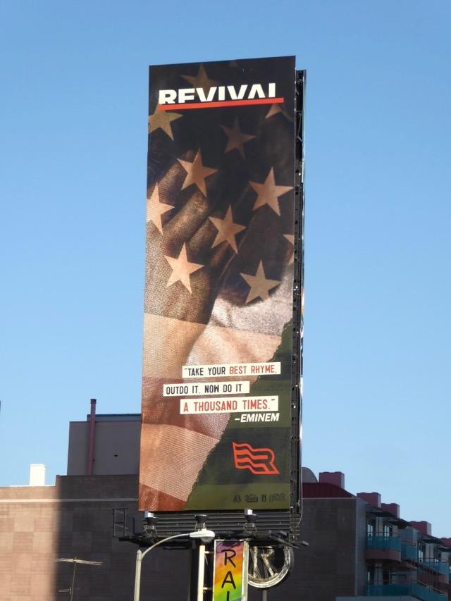 Daily Billboard: Eminem Revival album billboards    Advertising for