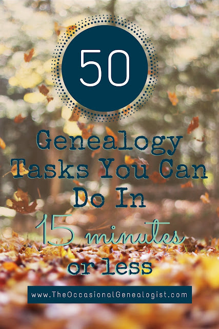 50 Tasks in 15 Minutes or Less