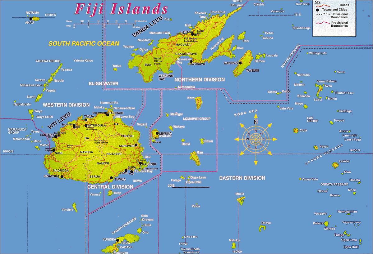 Fiji | Mapas Geográficos de Fiji
