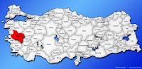 Manisa ilinin Türkiye haritasında gösterimi