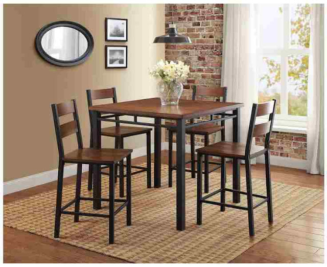 Better Homes and Gardens Mercer 5-Piece Counter Height Dining Set