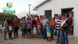 Prefeito Olivânio e Secretária de Educação Guia Lucena se reuniram com moradores do sítio Lamarão