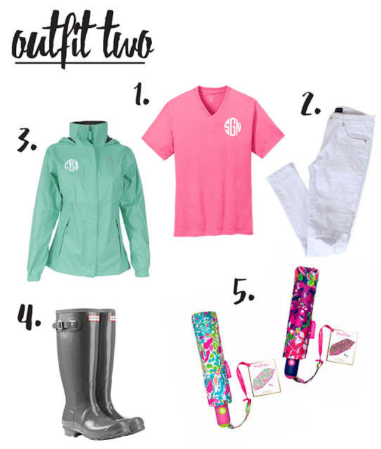 personalized rain jacket and t-shirt from marleylilly