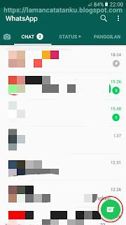 klik tombol kontak whatsapp untuk block dan unblock kontak