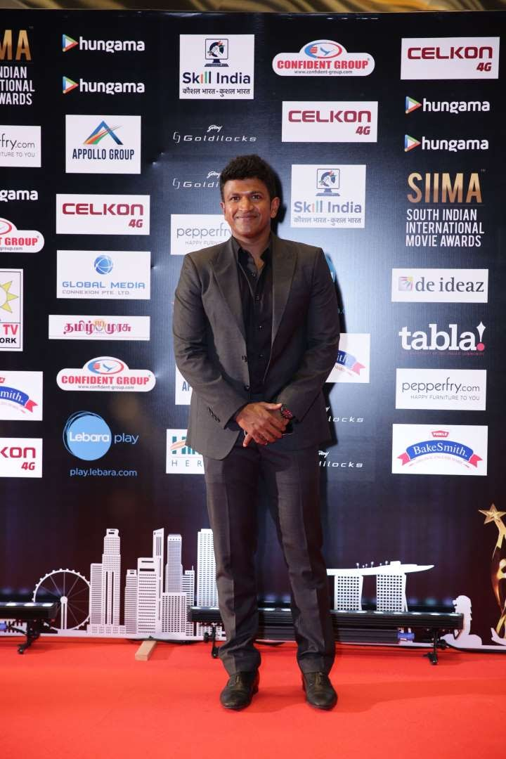 Puneeth Rajkumar collected the Best Actor Kannada award for his performance in Rana Vikrama