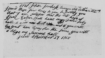 Denise's Life in the Past Lane: Amanuensis Monday - Marriage Documents for Isaac Eaton and Phoebe Hall - 1768