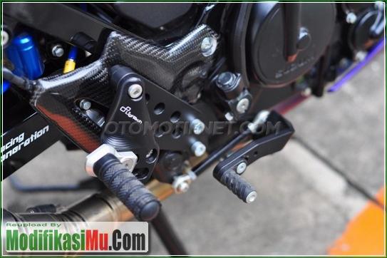 Footstep Mahal Untuk Ducati 848 Harga 7 Jutaan - Video Cara Modifikasi Satria F Yu F150 2016 Warna Ungu dan Kuning Yang Mewah Untuk Harian Sederhana Tapi Keren