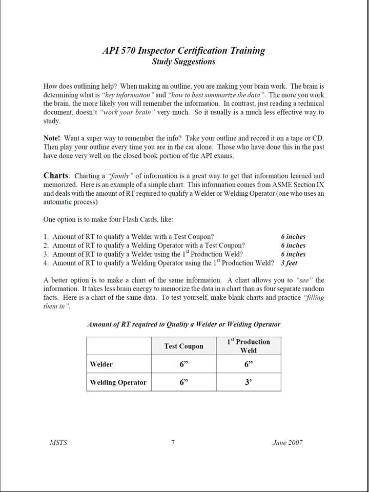PUJANGGA PIPING API 570 PIPING INSPECTOR EXAM STUDY
