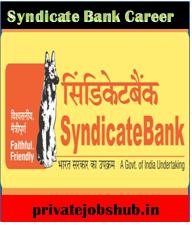 Syndicate Bank Career