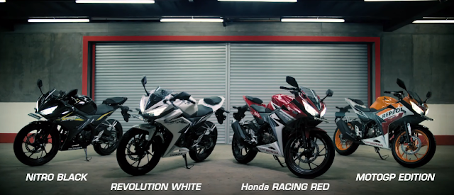 All New CBR150R terbaru 2016 hitam, putih, merah, repsol edition