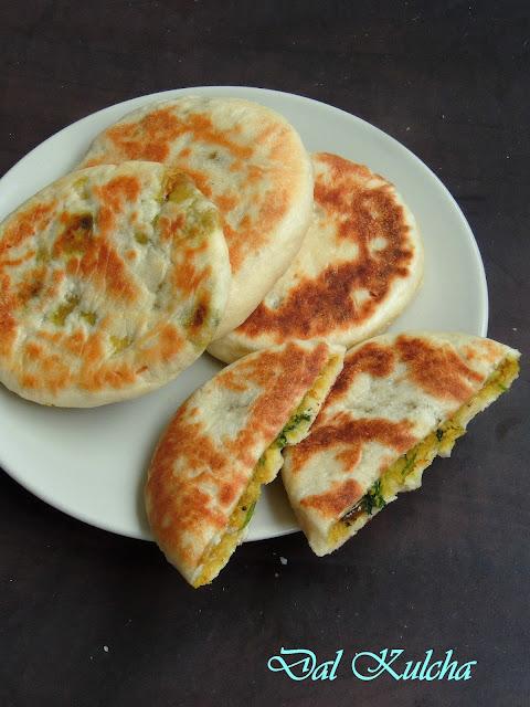 Dal stuffed kulchas, channadal kulcha