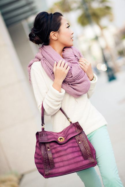 COLOUR COMBO: LILAC & GREEN