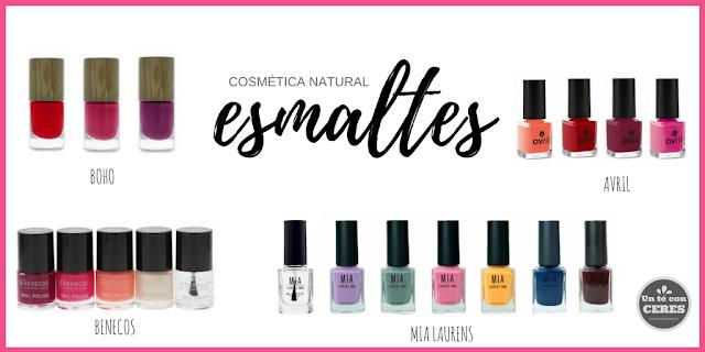 esmaltes de uñas, cosmética natural, boho, avril, benecos, mia laurens paris
