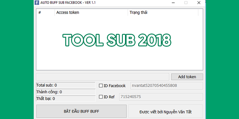 Share Tool Buff Sub - Follow Của NVT 2018