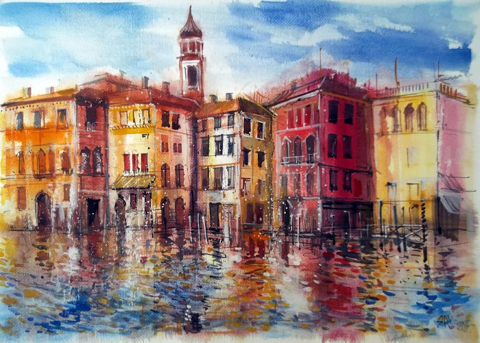 Венгерский художник. Lorand Sipos
