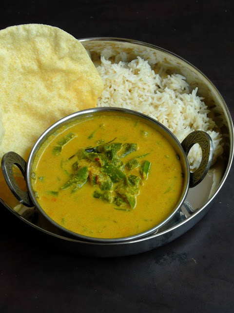 Capsicum Coconut Curry, No Onion No Garlic Capsicum Curry