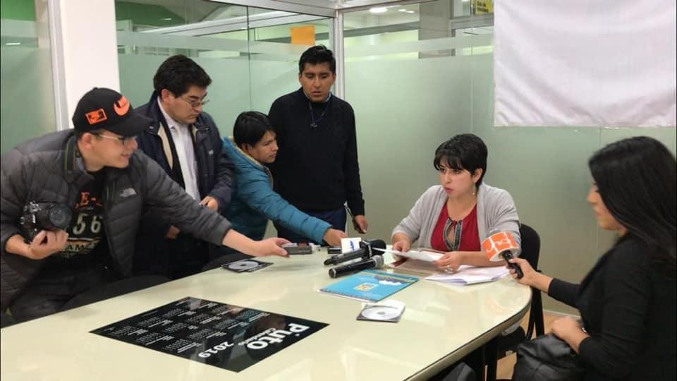 Chacón en rueda de prensa afirmó que lleva dos años fiscalizando el caso TERSA  / FACEBOOK