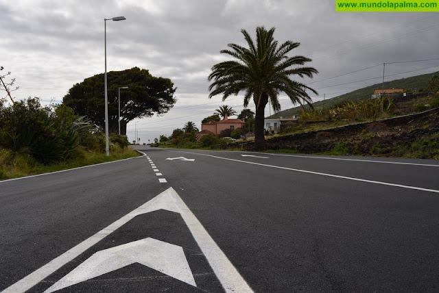 concluye el repavimentado de la carretera LP-2 entre Hoyo de Mazo y San Simón