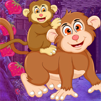 Play Games4king Cuddly Monkeys Escape