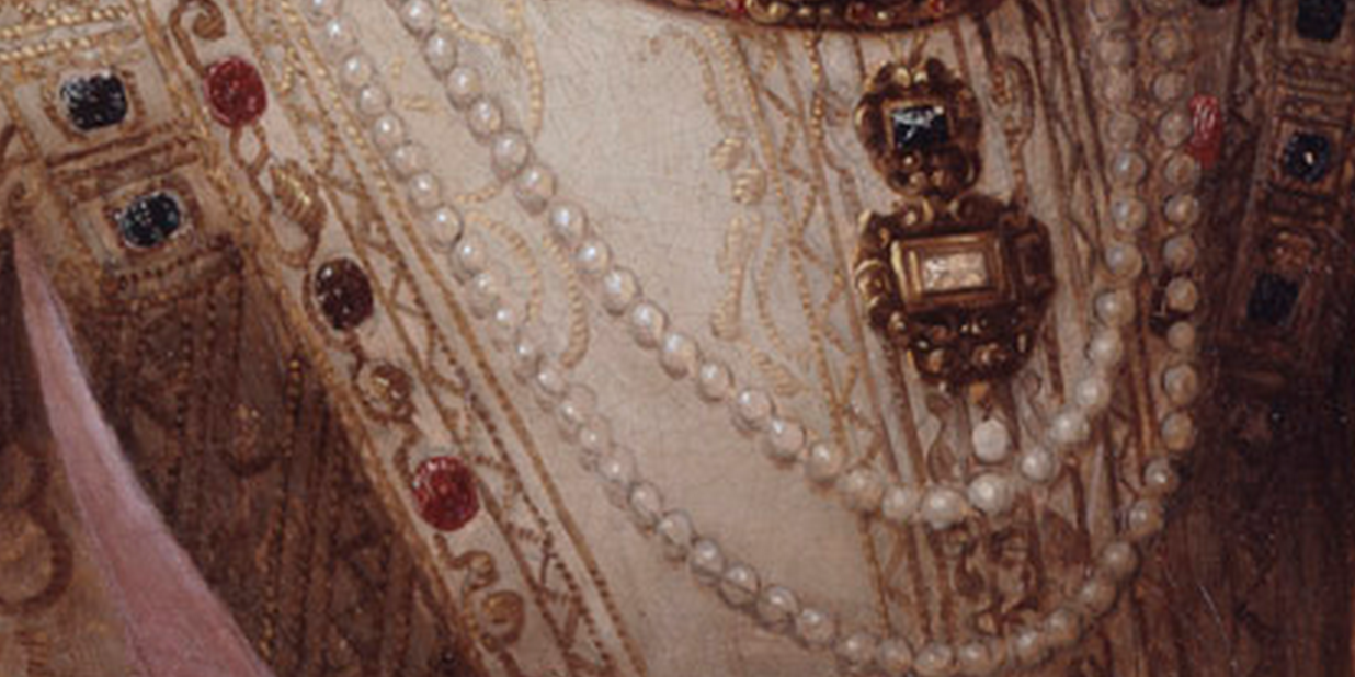 detail of portrait garment embellishments