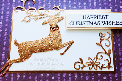 Heart's Delight Cards, Dashing Deer, Christmas Card, Stampin' Up!