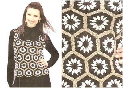 Chaleco top con hexagonos crochet tutorial